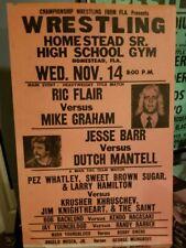 NWA FLORIDA CHAMPIONSHIP WRESTLING POSTER 1984 Ric Flair Mid Atlantic