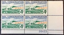 1959 4c Soil Conservation commemorative P.B. of 4, Scott #1133, MNH, VF