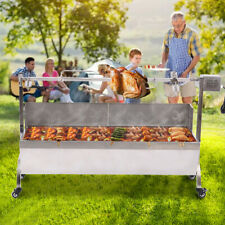 Rotisserie Grill Roaster Stainless Steel 25W Large Capacity BBQ Charcoal Goat