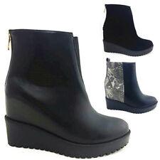 Zip Mid Heel (1.5-3 in.) Wedge Animal Print Boots for Women