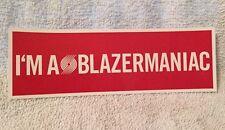 Portland Trailblazers Trail Blazers Bumper Sticker Blazermaniac Red White