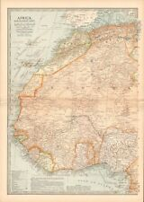1903 ANTIQUE MAP- AFRICA, NORTH WEST PART