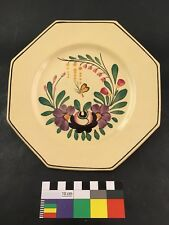 Old French Sarreguemines Faience Rocroi Pattern Plate Early 20th Century
