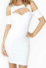 New NastyGal White Body Heat Open Back Off Shoulder Dress - Medium