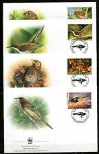 St. Lucia - 2001 WWF / Birds - Mi. 1142-45 FDC's