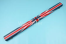 Deluxe Quality 3/4 Piece Union Jack Flag Design Snooker Pool Cue Case Weichster