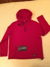 NEW!!! TAIGA 100 POLARTEC  MICROFLEECE PULLOVER HOODIE  1/4 Zip RED CANADA