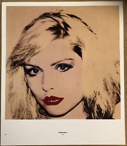 Debbie Harry, Blondie Andy Warhol 1987 Mini Poster Pop Art 29cmx24.5cm 188