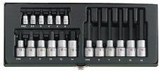 """Proxxon Serie Set 18 Bussole con inserto a brugola 1/4"""" - 1/2"""" a tubo Hex 23100"""