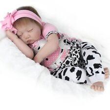 "22""HANDMADE VINYL SILICONE REBORN BABY DOLL SLEEPING REALISTIC NEWBORN GIRL GIFT"
