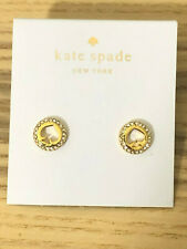 Kate Spade New Bling Diamond Love Heart Plated Earrings