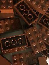 Lego 3001 New 2x4 Brown Bricks Blocks Buildings Wall Lot Of 25pcs