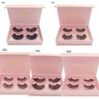 2 Pairs Mink Eyelashes Natural Long 3D Lashes False Eyelash Full Strip Lashes---