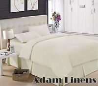EGYPTIAN COTTON 200 THREAD COUNT DUVET QUILT COVER BEDDING SET WITH PILLOW CASE