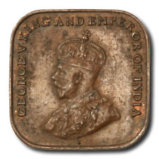 Straits Settlements George V 1 Cent 1920  KM-32 About Uncirculated