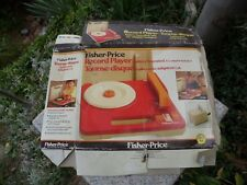 BOX ONLY!! Fisher Price Portable Battery Record Player Orange #820 BOX ONLY!!!