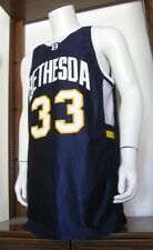 42 Men Wilson #33 Bethesda Basketball Jersey Navy Blue White Yellow EuC