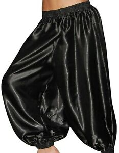 Pants Harem Yoga Genie Trouser Tribal Costume Outfit Belly Dance Black S ~ 5XL