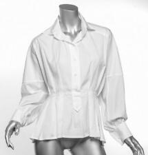 YVES SAINT LAURENT Womens White Cotton Long Sleeve Top Shirt Blouse FR36 US4