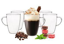 6  Latte Macchiato Gläser 350ml und 6 Edelstahl-Löffel Kaffeegläser Teegläser