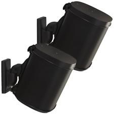 2 x Sanus WSWM22 Adjustable Speaker Wall Mount SONOS ONE, PLAY:1 & PLAY:3 Black