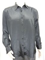 Men's Large Black Oleg Cassini Dress Shirt