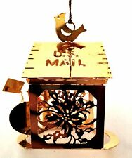 Danbury Mint 23K Gold Plated Christmas Ornament 1986 US MAIL Snowman w/ Letter