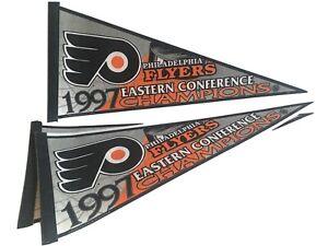 Vintage 1997 Eastern Conference Champion Philadelphia Flyers HOCKEY Pennant NHL