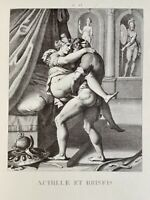 Agostino Carracci Erotik Penis Akt Vagina Homer Ilias Antike Achilles Briseis
