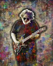 JERRY GARCIA Of The GRATEFUL DEAD Tribute 16x20in Poster The Dead  Free Shipping