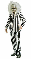 80s Movie Beetlejuice Adult Fancy Dress Up Funny Zombie Ghost Halloween Costume