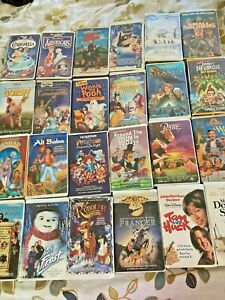 Lot 25 Childrens Family VHS 7 Disney-Children's Animated-WB POOH Small Soldiers