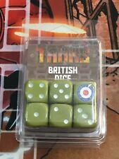 Dados para juego TANKS: BRITISH DICE