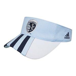 Sporting Kansas City MLS Adidas Adjustable Visor Hat, Lightblue