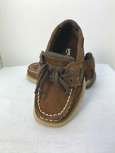 Sperry  Toddler Boys Lanyard A/C Boat Shoes Hook & Loop Closure Sz. 6.5M   EUC