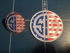 Sig Guns/firearms USA Gold Plated Pin Badge & SIG Sticker
