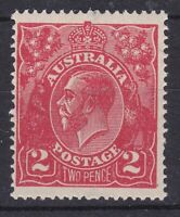 G629) Australia 1922 2d Rose-red ACSC 96B, an unusually bright and intense shade