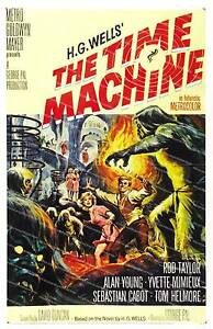 The Time Machine (1960) , vintage movie advertising poster reproduction.