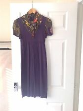 LADIES 'MISS SIXTY' PURPLE FLORAL DRESS. SIZE SMALL/ SIZE 10. GOOD CONDITION.