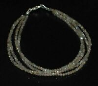 "Natural Labradorite Gemstone Faceted 4 Layer 5-10"" Jewelry Bracelet 2 mm Beads"