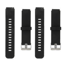 Soft Rubber Watch Strap Replacement Black Band 18mm 22mm Quick Release Bar