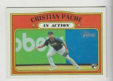 (7) Cristian Pache 2021 TOPPS HERITAGE IN ACTION ROOKIE LOT #304 ATLANTA BRAVES