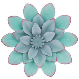 BLUE OR PURPLE Layered SMALL Flower Metal Wall Decor .