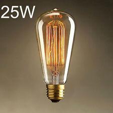 E27 220V 25W Edison Light Bulb ST64 Retro Lights Pendant Decoration LED Bulb