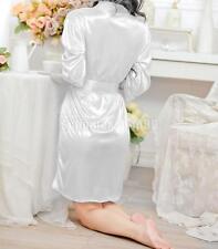damen Sexy Spitzen Satin Nachthemd Kimono Bademantel Lingerie Babydoll