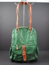 Stanford Style Backpack Laptop Quality Vegan Faux Leather Green G2