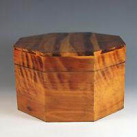 Vintage Hand Crafted Octagonal Wood Trinket Box