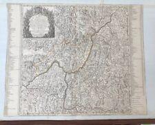 Carte ancienne Beaurain Le Diocèse de Grenoble 1741