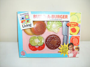 SMALL WORLD LIVING BUILD-A-BURGER  NEW IN BOX