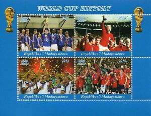 Madagascar 2018 CTO Football World Cup England Bobby Moore 1966 4v M/S II Stamps